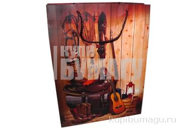 "Пакет подар. бумага ""Ковбой"" 1092-1, 40*30*12 /12 /0 /240"