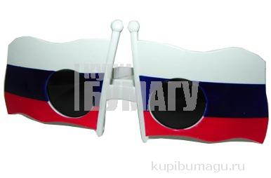 "Очки 12376, ""Российский флаг"", пластик /12 /0 /300"