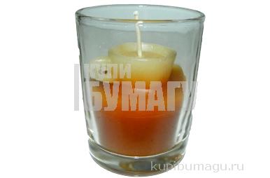 """Свеча 12766 """"Кофейная"""" в стакане, 6, 5 см, ароматиз. /1 /0 /144"""