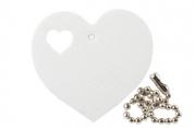 "Брелок-подвеска светоотражающий ""Сердечко в сердце"", 55х50 мм"
