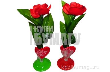 """Сувенир LED технологии 0695 """"Роза"""", 34 см /12 /0 /408"""