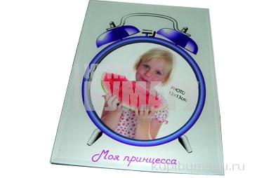 "Фоторамка-стекло 3605 ""Будильник"", 10х15см, асс /1 /0 /60"