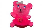 """Магнит-акрил 138 """"Розовый мишка"""" со стразами, 4, 5х5, 5 см /24 /0 /720"""