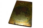 """Книжка зап. 80л, 080HDU """"Карта"""", 9, 5х14см, 70гр, клет, выруб, тв. обл, фольга /1 /0 /60"""