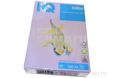 Бумага цветная IQ COLOR (А4, 80г, LA12-бледно-лиловый) пачка 500л. ~~