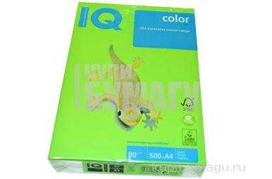 """Бумага д/офисной техники 80г/м2 А4 """"IQ COLOR"""" (ярко-зеленый) MA42~~"""