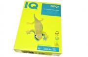 Бумага цветная IQ COLOR (А4, 80г, NEOGB-желтый неон, Австрия). ~~