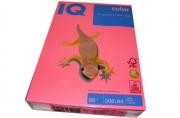 Бумага цветная IQ COLOR (А4, 80г, NEOPI-розовый неон, Австрия). ~~