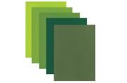 Фетр цветной А4, ОСТРОВ СОКРОВИЩ, 5 листов, 5 цветов, толщина 2 мм, оттенки зеленого, 660643