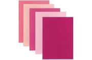 Фетр цветной А4, ОСТРОВ СОКРОВИЩ, 5 листов, 5 цветов, толщина 2 мм, оттенки розового, 660644