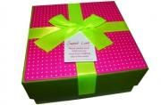 """Коробка подарочная 15482 """"Color"""", 11. 5*11. 5*5. 5 см, цв. асс /4 /0 /240"""