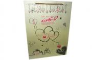 """Пакет подар. бумага 2273 """"Любовь"""" 37*27, 5*10, 2, 4 ассорти J. O. /12 /0 /480"""