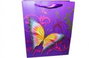 """Пакет подар. бумага 3800 """"Бабочки-красавицы"""" 21*26*10 /12 /0 /600"""