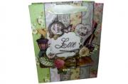 """Пакет подар. бумага 3803 """"LOVE"""" 26*32*12 /12 /0 /480"""