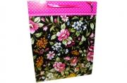 """Пакет подар. бумага 4394 """"Шикарные цветы"""" 32*25*10 /12 /0 /360"""