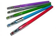 """Ручка гель 571С """"Кристалл"""", игольчатый син. стерж. 0,5 мм, цв. асс /50 /0 /2400 /0"""
