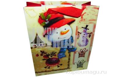 """Пакет подар. бумага 5991-3 """"Новый год"""", 17х21. 5х8. 5см, асс /12 /0 /840 /0"""