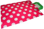 Пакет с петлевой ручкой 6037-3 Горох на розовом, 44*52см, п/этилен /25 /0 /750~~