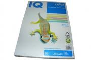 Бумага цветная IQ COLOR (А4, 80г, 5цв. 20, 23, 25, 28, 30 по 50л. ) 250л/пач. ~~