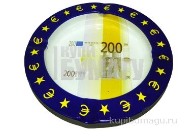 Пепельница металическая 200 евро