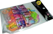 Набор Плетение из резинок 8752 200шт, цветные светящ., крючок. /12 /0 /2400 /0
