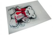Пакет с прорубной ручкой 48-3B Мишка, 38*50см, целлофан /100 /500 /6000