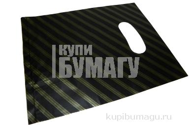 Пакет с прорубной ручкой 100-1S Полоски, 20*25см, целлофан /100 /1000 /20000