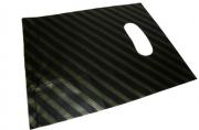 Пакет с прорубной ручкой 100-1B Полоски, 50*60см, целлофан /100 /500 /3000