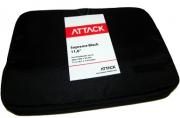 Чехол для ноутбука ATTACK Supreme Black 11, 6 полиэстер, черный,  (285x205x35)