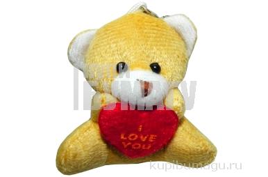 Брелок-мягкая игрушка Мишка с сердечком, 5см