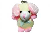 Брелок-мягкая игрушка Собачка розовая, 6см