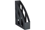 """Лоток вертикальный для бумаг ERICH KRAUSE """"Basic"""", ширина 75 мм, черный, 15119"""
