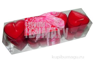 набор 8 свечей-картриджей ЛЯМУР красный