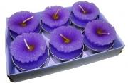 набор 6 свечей-картриджей МАРГАРИТКИ сиреневые 4см