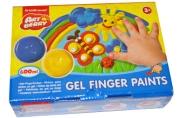 Краски пальчиковые 06цв по 100мл карт упак ARTBERRY 34820 [4670009102362] (162360)