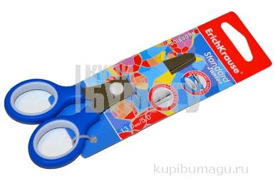 """Ножницы ERICH KRAUSE """"Standard Junior"""" 130мм, цвет ассорти, в карт. упак. с европодвесом, 35505"""