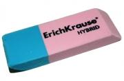 "Ластик ERICH KRAUSE ""Hybrid"", 54x18x7, 5мм, красно-синяя, дисплей, 35749"