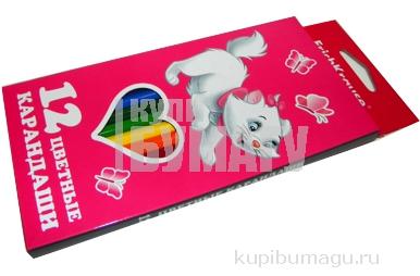 карандаши 12цв Cat Marie разноцветный