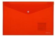 "Папка-конверт с кнопкой А4 красная непрозрачная, , ERICH KRAUSE ""Classic""до 120 л, 0, 18 мм, 42922"