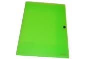 """Папка на кнопке А4 8мм """"Neon"""" c 3 клапанами ERICH KRAUSE 43000"""