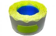 Этикет-лента МЕТО большая универсальная (волна) 26х12 (700эт. /200рол. ) желтая