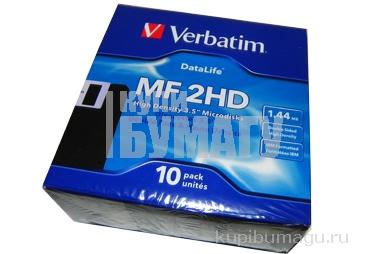 Дискета  Verbatim, HD, IBM-format, Data Life 10 дискет в картонной коробке~~