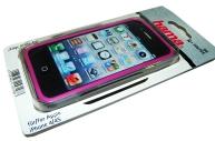 Рамка защитная Edge Protector для Apple iPhone 4/4S, сохраняет доступ ко всем кнопкам, пластик, черный/розовый, Hama   [ObG]