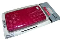 Футляр Air для Apple iPhone 4/4S, конструктивный доступ ко всем кнопкам, пластик, розовый, Hama   [ObG]