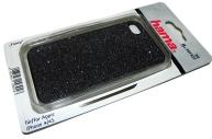Футляр Fancy для Apple iPhone 4/4S, пластик, черный, Hama   [ObG]
