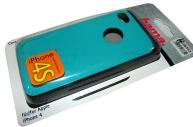 Футляр Shiny для Apple iPhone 4/4S, пластик, бирюзовый, Hama   [ObG]