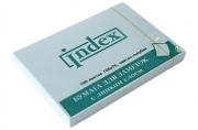 Бумага для заметок, с липким слоем, светло-голубая, разм. 105х75 мм, 100 л.,  (INDEX)