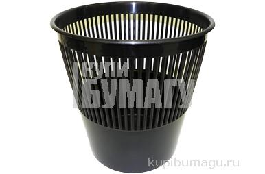 Корзина для бумаг, сетчатая, черная, 9 литров,  (СТАММ)