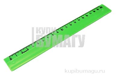 Линейка цветная, флюоресцентная, 4 цв., 20 см,  (СТАММ)