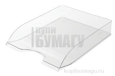 """Лоток горизонтальный для бумаг СТАММ """"Дельта"""" прозрачный, ЛТ652"""